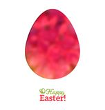 Easter Egg in Floral Minimalism Style Royalty Free Stock Photos