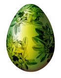 Easter egg with floral ornament. On the white isolated background Stock Photography