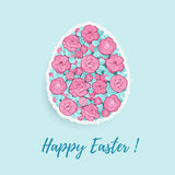 Easter Egg With Floral Ornament Royalty Free Stock Photos