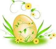 Easter egg with floral ornaments Stock Images