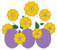 Easter Egg Flowers Stock Photos