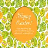 Easter egg on flowers background. Stock Photo
