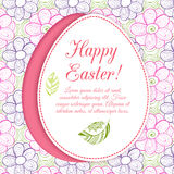 Easter egg on flowers background. Stock Photography