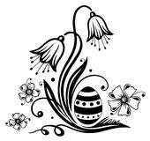 Easter, egg, flowers Royalty Free Stock Images