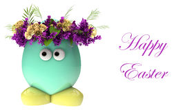 Easter egg with flowers Stock Photos