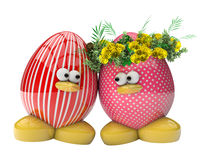 Easter egg with flowers, symbol for love and family Royalty Free Stock Photo
