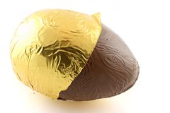 Easter Egg with foil back Royalty Free Stock Images