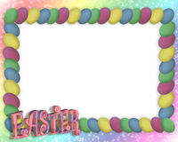 Easter Egg Frame or border 3D. Illustration and image composition for Easter frame background or border Royalty Free Stock Images