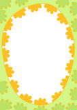 Easter Egg Frame Border. Egg border frame with inner space to write message or pin image Stock Photos