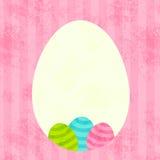 Easter egg frame Stock Image