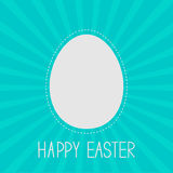 Easter egg frame template. Dash line. Sunburst bac Royalty Free Stock Photos