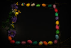 Easter Egg Framed Copy Space Square Stock Image