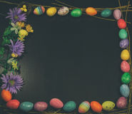 Easter Egg Framed Copy Space Square VIntage Royalty Free Stock Photos