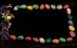 Easter Egg Framed Copy Space Wide Royalty Free Stock Photography