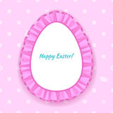 Easter egg frill lace frame illustration. Stock Images