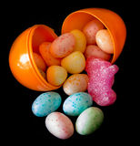 Easter Egg Full of Candies for a Holiday Celebration Royalty Free Stock Images