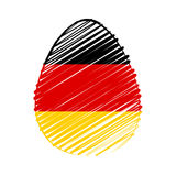 German flag in easter egg Royalty Free Stock Image