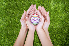 Easter egg gift Stock Photo