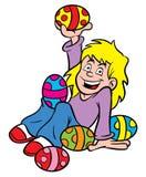 Easter Egg girl Royalty Free Stock Photos