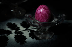 Easter Egg in Glas Egg Cup Royalty Free Stock Photography