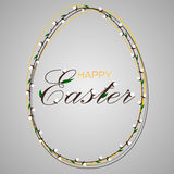Easter egg glass. Easter glass egg on a green background Royalty Free Stock Photo