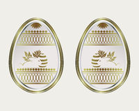 Easter egg with a gold border and the rabbit Royalty Free Stock Image