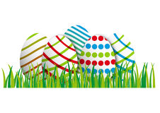 Easter Egg in grass Stock Images