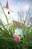 Easter egg in grass Royalty Free Stock Photography