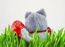 Easter egg in the grass Royalty Free Stock Photos