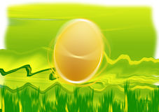 Easter egg on the grass. Card Stock Images