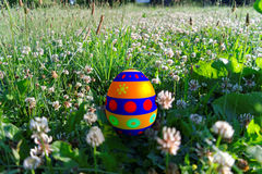 Easter egg in the grass Stock Photography