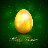 Easter egg on green background Stock Photo