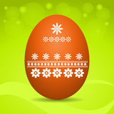 Easter egg on green background Stock Photography