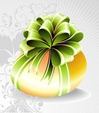 Easter egg with green bow Stock Images