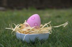 Easter egg in green grass Stock Photos