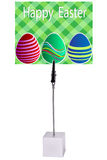 Easter egg on green Paper Memo Holder Royalty Free Stock Image