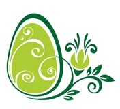 Easter egg and green pattern Stock Photo