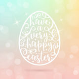 Easter egg with greeting Royalty Free Stock Photos