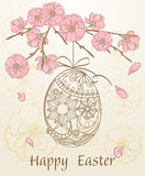 Easter egg - greeting card Royalty Free Stock Image