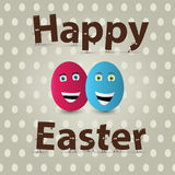Easter egg greeting card design. Vector Stock Photography