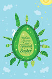 Easter  egg greeting card Stock Photos