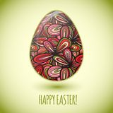 Easter egg greeting card hand drawn ornament Royalty Free Stock Photography