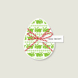 Easter egg greeting card Royalty Free Stock Photography