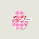 Easter egg greeting card Stock Image