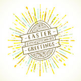 Easter egg with greeting Royalty Free Stock Image