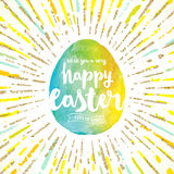Easter egg with greeting Royalty Free Stock Photo