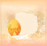 Easter Egg On Grunge Background Stock Images