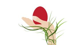 Easter Egg in Hand Royalty Free Stock Photography
