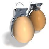 Easter egg hand grenades Stock Image