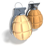 Easter egg hand grenades Stock Photography